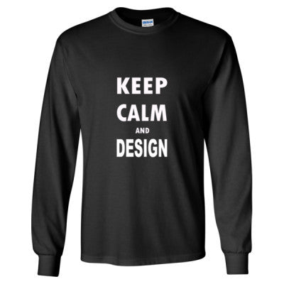 Keep Calm And Design - Long Sleeve T-Shirt S-Black- Cool Jerseys - 1