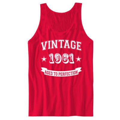 Vintage 1961 Aged To Perfection - Unisex Jersey Tank - Cool Jerseys - 1