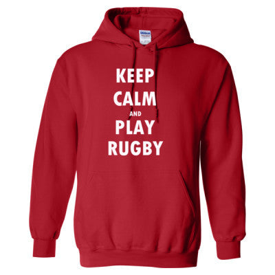 Keep Calm And Play Rugby - Heavy Blend™ Hooded Sweatshirt S-Red- Cool Jerseys - 1