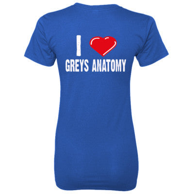 Gray's Anatomy Shirts - Ladies' 100% Ringspun Cotton nano-T® Back Print Only S-Deep Royal- Cool Jerseys - 1