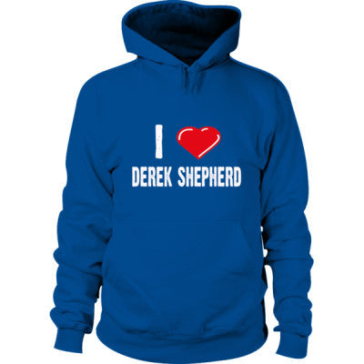 I love Derek Shepherd tshirt - Hoodie S-Royal+- Cool Jerseys - 1