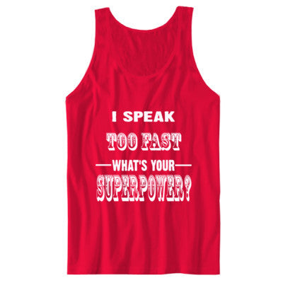 I Speak Too Fast - Unisex Jersey Tank S-Red- Cool Jerseys - 1