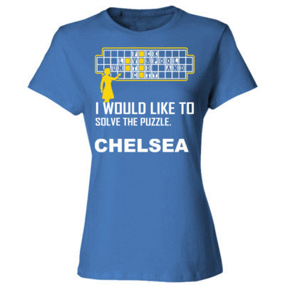 Chelsea Football Shirt - Ladies' 4.5 oz., 100% Ringspun Cotton nano-T® T-Shirt S-Carolina Blue- Cool Jerseys - 1