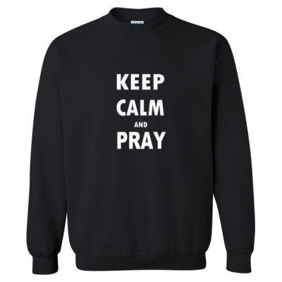 Keep Calm And Pray - Heavy Blend™ Crewneck Sweatshirt S-Black- Cool Jerseys - 1