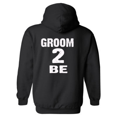Groom To Be Heavy Blend™ Hooded Sweatshirt BACK ONLY S-Black- Cool Jerseys - 1