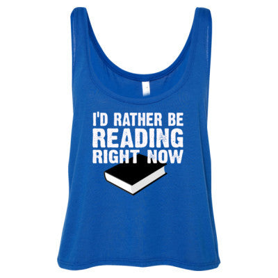 Book shirts - Ladies' Cropped Tank Top S-True Royal- Cool Jerseys - 1