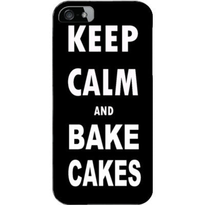Keep calm and bake cakes - iPhone 5 / 5S Cover - FREE SHIPPING WITHIN USA OS-Clear- Cool Jerseys