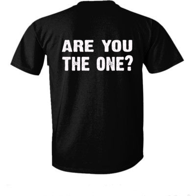 Are you the one tshirt - Ultra-Cotton T-Shirt Back Print Only S-Real black- Cool Jerseys - 1