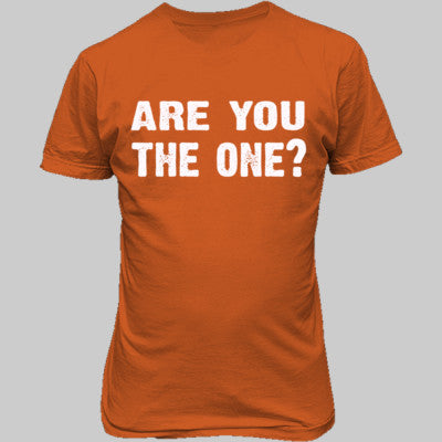Are you the one tshirt - Unisex T-Shirt FRONT Print S-Orange- Cool Jerseys - 1