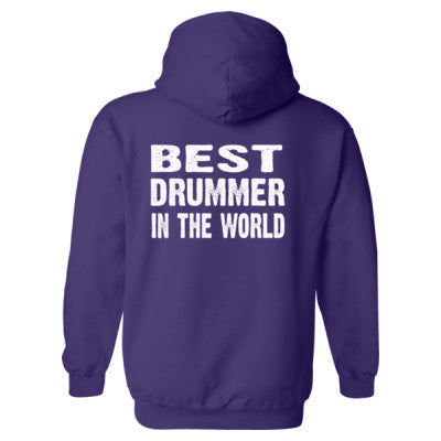 Best Drummer In The World - Heavy Blend™ Hooded Sweatshirt BACK ONLY S-Purple- Cool Jerseys - 1
