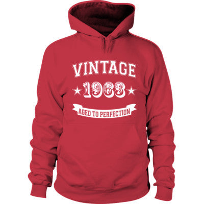 Vintage 1963 Aged To Perfection - Hoodie S-Cardinal Red- Cool Jerseys - 1