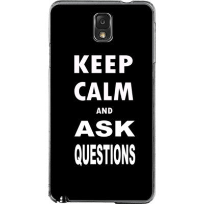 Keep calm and ask questions - Samsung Note 3 Cover - FREE SHIPPING WITHIN USA OS-Clear- Cool Jerseys