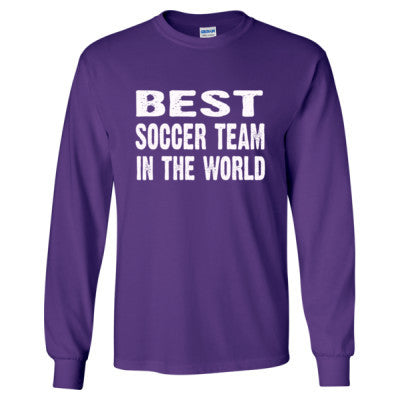 Best Soccer Team In The World - Long Sleeve T-Shirt - Cool Jerseys - 1
