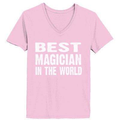 Best Magician In The World - Ladies' V-Neck T-Shirt - Cool Jerseys - 1