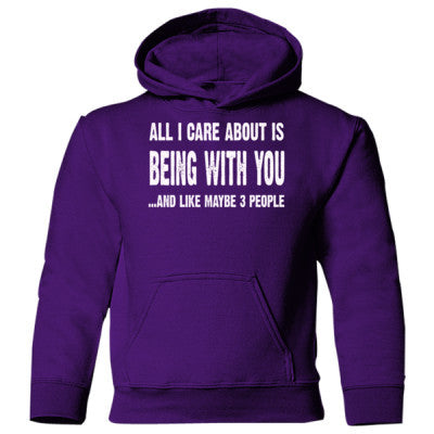 All i Care About Is Being With You Heavy Blend Children's Hooded Sweatshirt S-Purple- Cool Jerseys - 1