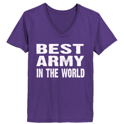 Best Army In The World - Ladies' V-Neck T-Shirt - Cool Jerseys - 1