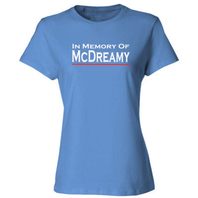 In Memory of McDreamy tshirt - Ladies' Cotton T-Shirt S-Carolina Blue- Cool Jerseys - 1