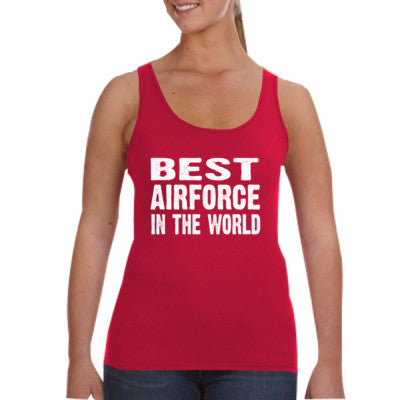 Best Airforce In The World - Ladies Tank Top S-Independence Red- Cool Jerseys - 1