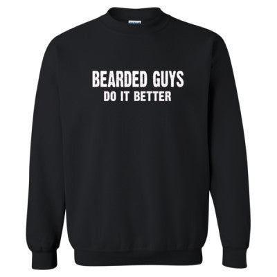 Bearded Guys Do It Better tshirt - Heavy Blend™ Crewneck Sweatshirt S-Black- Cool Jerseys - 1