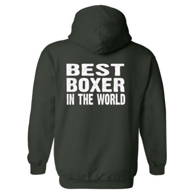 Best Boxer In The World - Heavy Blend™ Hooded Sweatshirt BACK ONLY S-Forest- Cool Jerseys - 1