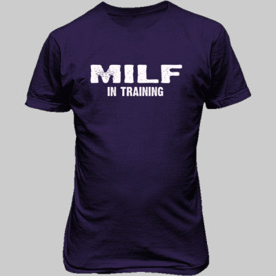 MILF in training tshirt - Unisex T-Shirt FRONT Print S-Purple- Cool Jerseys - 1