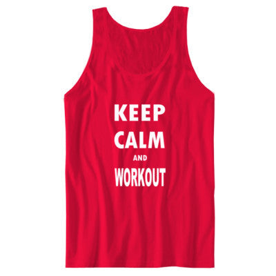 Keep Calm And Workout - Unisex Jersey Tank - Cool Jerseys - 1