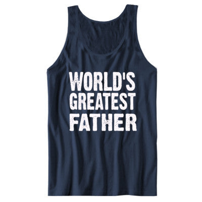 Worlds Greatest Father - Unisex Jersey Tank XS-Navy- Cool Jerseys - 1