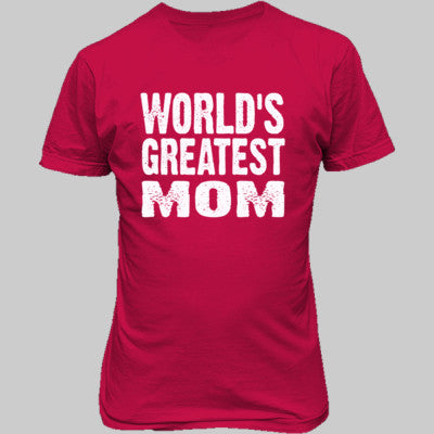 Worlds Greatest Mom - Unisex T-Shirt FRONT Print - Cool Jerseys - 1