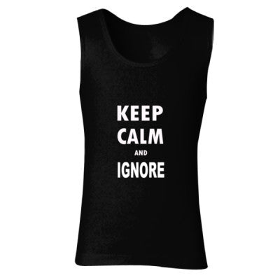 Keep Calm And Ignore - Ladies' Soft Style Tank Top S-Black- Cool Jerseys - 1
