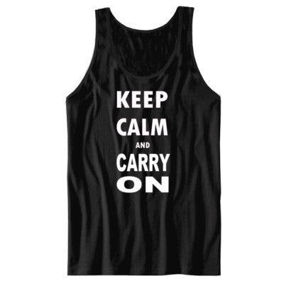 Keep Calm and Carry On - Unisex Jersey Tank - Cool Jerseys - 1