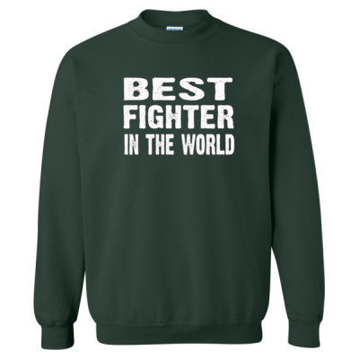Best Fighter In The World - Heavy Blend™ Crewneck Sweatshirt S-Forest- Cool Jerseys - 1