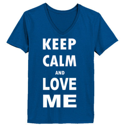 Keep Calm And Love Me - Ladies' V-Neck T-Shirt - Cool Jerseys - 1