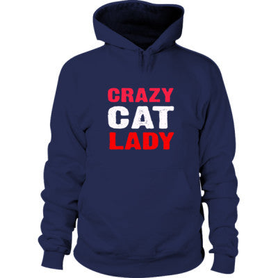 Crazy Cat Lady Hoodie S-Navy- Cool Jerseys - 1