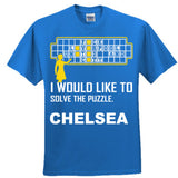 Chelsea Football Shirt - Ultra Cotton™ 100% Cotton T Shirt S-Royal- Cool Jerseys - 1