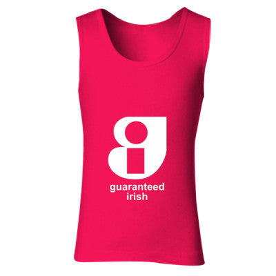 Guaranteed Irish - Ladies' Soft Style Tank Top S-Cherry Red- Cool Jerseys - 1