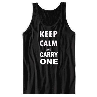 Keep Calm and Carry One - Unisex Jersey Tank - Cool Jerseys - 1