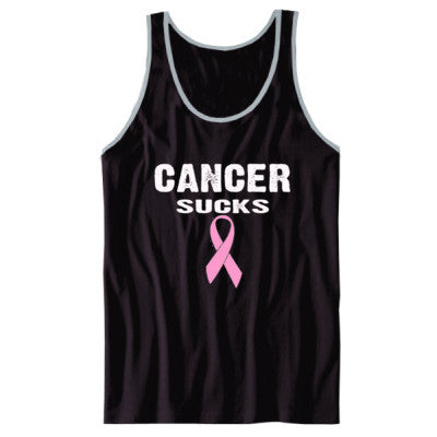 Cancer Sucks Tshirt - Unisex Jersey Tank XS-Black- Cool Jerseys - 1