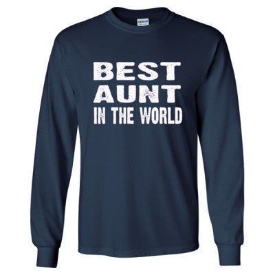 Best Aunt In The World - Long Sleeve T-Shirt - Cool Jerseys - 1