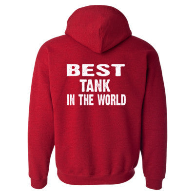 Best Tank In The World - Heavy Blend™ Hooded Sweatshirt BACK ONLY S-Antique Cherry Red- Cool Jerseys - 1