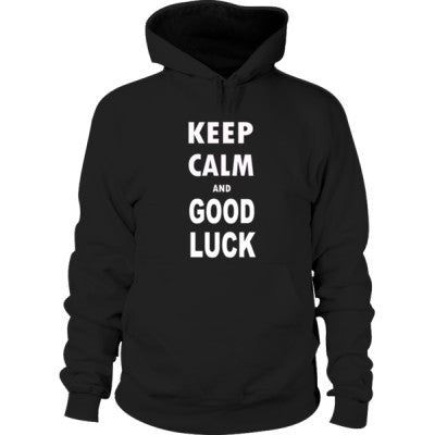 Keep Calm And Good Luck - Hoodie S-Black- Cool Jerseys - 1