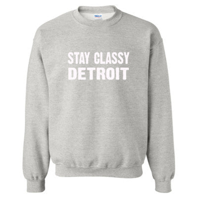 Stay Classy Detroit tshirt - Heavy Blend™ Crewneck Sweatshirt S-Ash- Cool Jerseys - 1