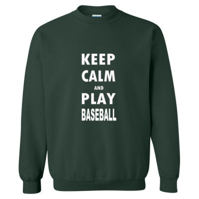 Keep Calm And Play Baseball - Heavy Blend™ Crewneck Sweatshirt S-Forest- Cool Jerseys - 1