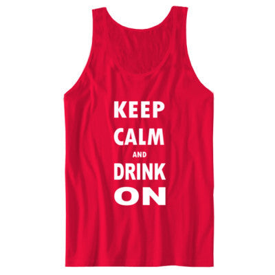 Keep Calm And Drink On - Unisex Jersey Tank - Cool Jerseys - 1