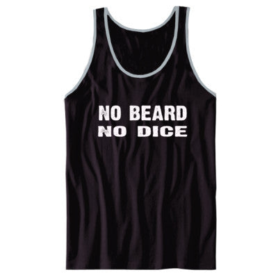 No Beard No Dice tshirt - Unisex Jersey Tank XS-Black- Cool Jerseys - 1