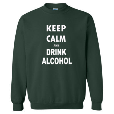 Keep Calm And Drink Alcohol - Heavy Blend™ Crewneck Sweatshirt S-Forest- Cool Jerseys - 1