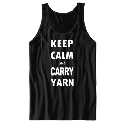 Keep Calm and Carry Yarn - Unisex Jersey Tank S-Black- Cool Jerseys - 1