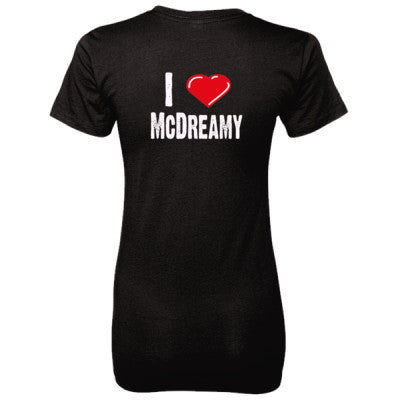 I Love McDreamy tshirt - Ladies' 100% Ringspun Cotton nano-T® Back Print Only S-Black- Cool Jerseys - 1