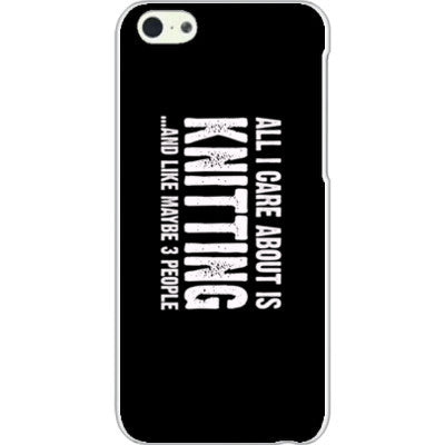 All i Care About is Knitting And Like Maybe Three People - iPhone 5C Cover - FREE SHIPPING WITHIN USA OS-Clear- Cool Jerseys