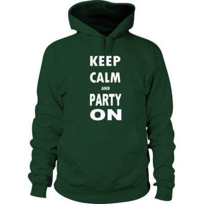 Keep Calm And Party On - Hoodie S-Forest Green- Cool Jerseys - 1