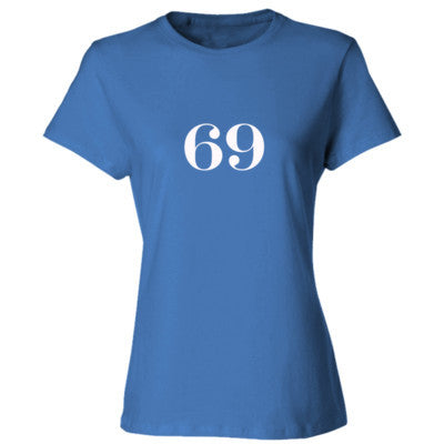 69 tshirt - Ladies' Cotton T-Shirt S-Carolina Blue- Cool Jerseys - 1